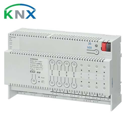 SIEMENS Actionneur de stores combiné 8 entrées binaires 4 sorties AC 230 V 6A