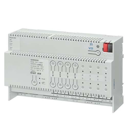 SIEMENS Actionneur de stores combiné 8 entrées binaires 4 sorties AC 230 V 6A - 2