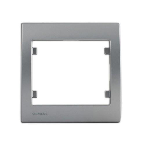 SIEMENS Delta Iris Plaque simple silver