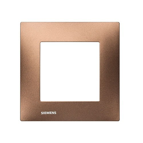 SIEMENS Delta Viva Plaque simple - Métal marron