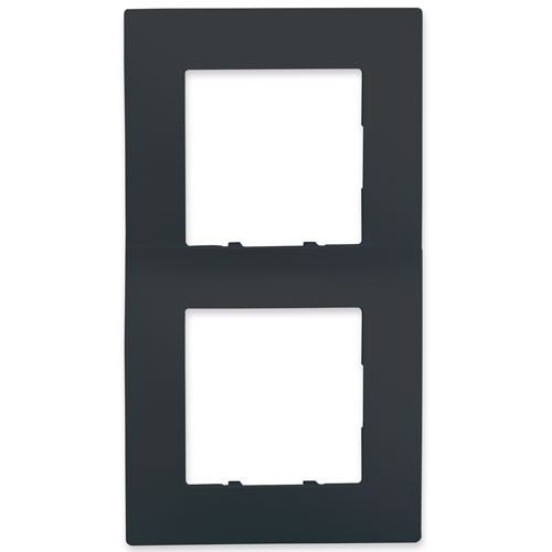 SIEMENS Delta Viva Plaque double - Anthracite - 2
