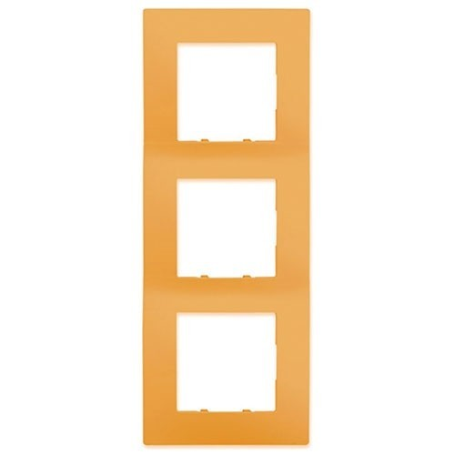 SIEMENS Delta Viva Plaque triple - Orange - 2