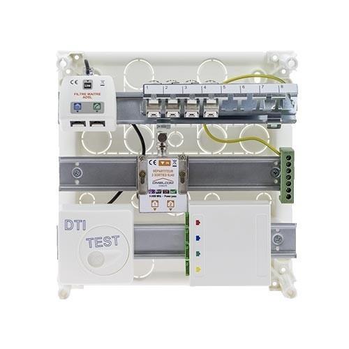 SIEMENS tableau de communication Grade 2TV - avec DTIO 4RJ45