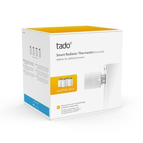 Vanne thermostatique connectée et intelligente Pack Quattro TADO - Lot de 4