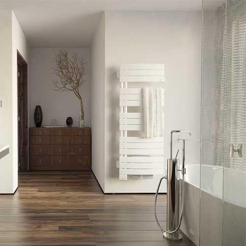 THERMOR Allure digital Sèche-serviettes pivotant à gauche  Blanc satin avec soufflerie 1750W  - 490561