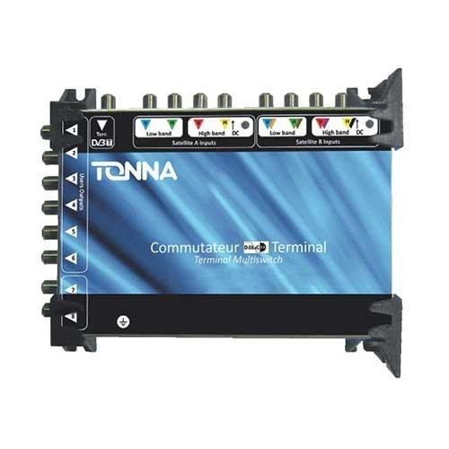 TONNA Commutateur 2 satellites + TNT 8 sorties TV