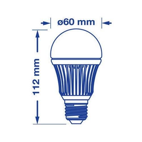 Ampoule LED E27 230V 10W(=60W) 820lm 3000°K - Lot de 4 VERBATIM