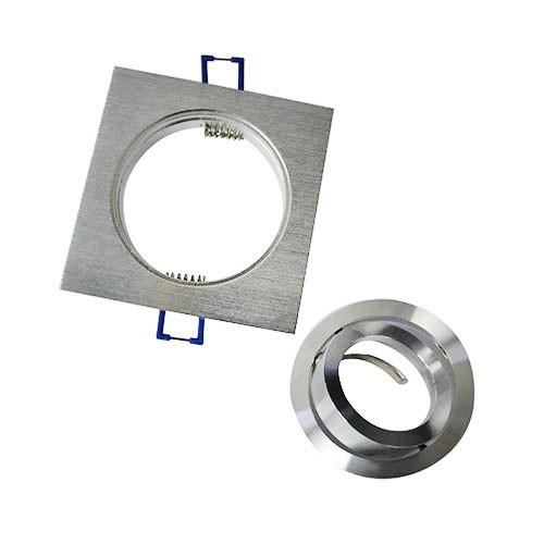 VISION-EL Support de spot carré aluminium brossé 92 x 92 mm - 2