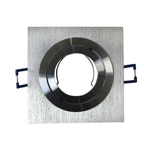 VISION-EL Support de spot carré aluminium brossé 92 x 92 mm