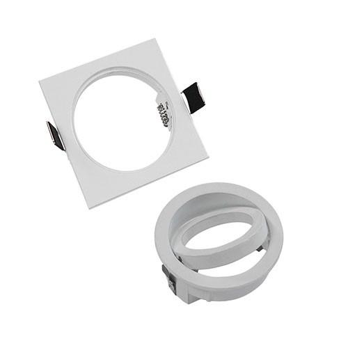 VISION-EL Support de spot carré blanc 88 x 88 mm - 2