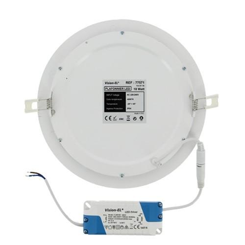VISION EL Plafonnier LED rond blanc 18W diamètre 235 mm - 3