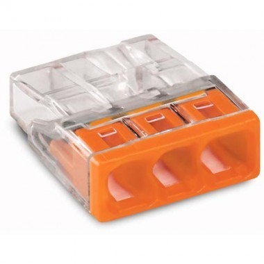 WAGO Flacon de 50 mini-bornes de connexion 3 fils S2273 - 2