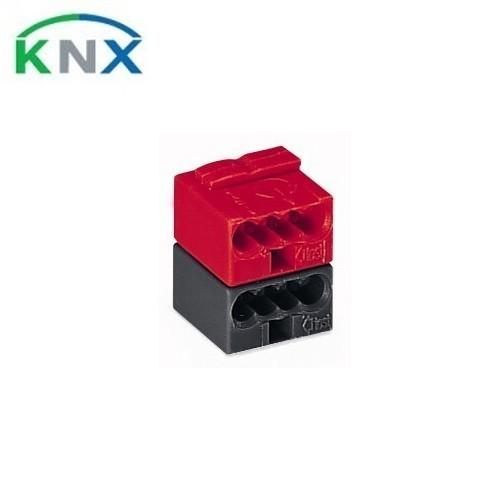 WAGO KNX Borne de bus 2 pôles rouge et noir - 243-211