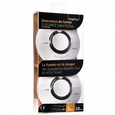 ANGELEYE Elegance Expert Sans fil Duo de détecteurs de fumée - garantie 5 ans