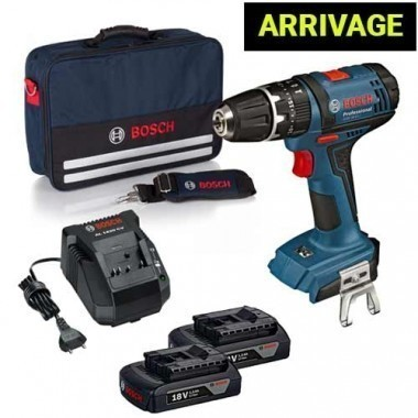 BOSCH Perceuse visseuse à percussion sans fil 18V + 2 batteries 1,5Ah - 0615990K45