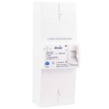 ITRON Disjoncteur d'abonné monophasé 30/60A 500mA Instantané