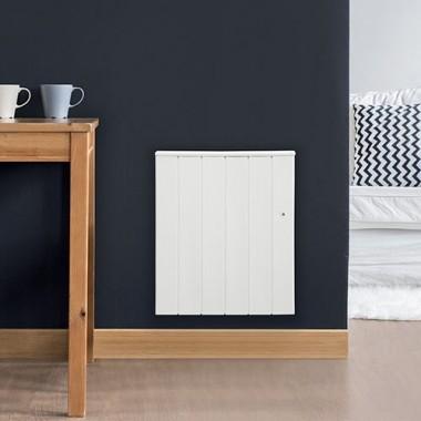 radiateur inertie r fractite horizontal blanc 1500w. Black Bedroom Furniture Sets. Home Design Ideas