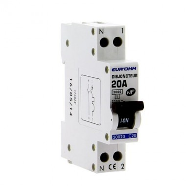 EUROHM Disjoncteur 20A 1P+N NF