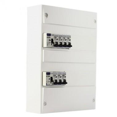 EUROHM Tableau électrique prééquipé 2 rangées 2ID 40A 7 disjoncteurs