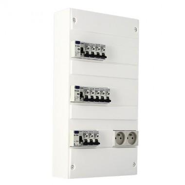 EUROHM Tableau électrique prééquipé 3 rangées 63A
