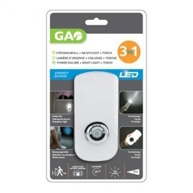 Veilleuse LED multifonctions GAO avec détecteur de mouvement