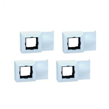 boitier appareillage pour moulure lectrique 45x45mm blanc ggk. Black Bedroom Furniture Sets. Home Design Ideas