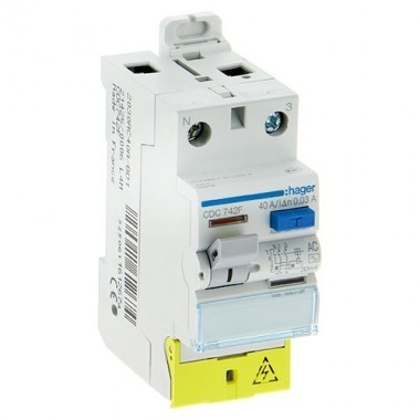 HAGER Inter différentiel 40A 30mA type AC