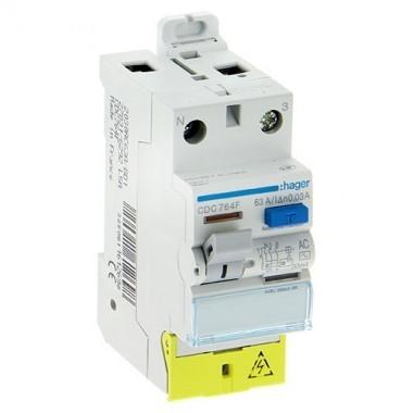 Interrupteur differentiel 63a Hager 30 ma type ac