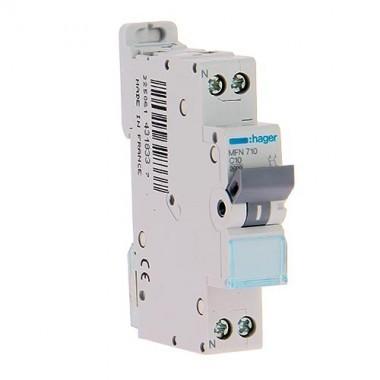 Hager 10a 230v Mfn710 Ph n C 3ka Disjoncteur Calibre BrdCeWxo