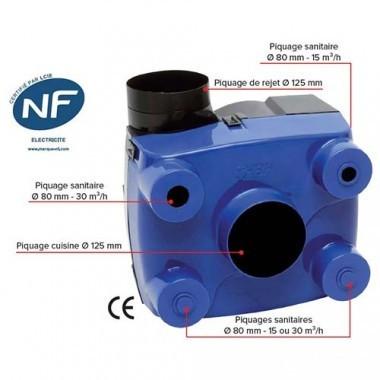 HBH Kit VMC autoréglable Facilio simple flux - 908560
