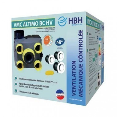 HBH Kit VMC Altimo simple flux hygrovariable basse consommation - 909966