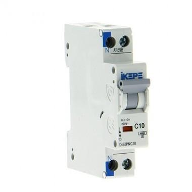 IKEPE Disjoncteur 10A Ph+N courbe C 4.5kA 230V