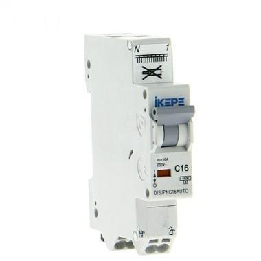 IKEPE Disjoncteur 16A auto Ph+N courbe C 4.5kA 230V