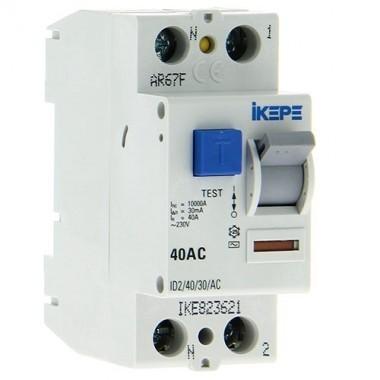 IKEPE Interrupteur différentiel 40A 30mA type AC 230V