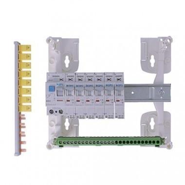 Tableau électrique pré équipé IKEPE auto 1 rangée 1ID 40A 6 disjoncteurs