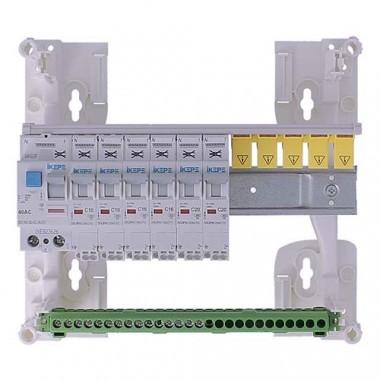 Tableau électrique pré équipé auto 1 rangée 1ID 40A 6 disjoncteurs IKEPE