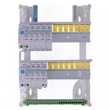 IKEPE Tableau électrique pré équipé auto 2 rangées 2ID 40A 7 disjoncteurs