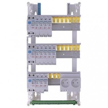 Tableau électrique pré équipé auto IKEPE 3 rangées 3ID 63A 12 disjoncteurs