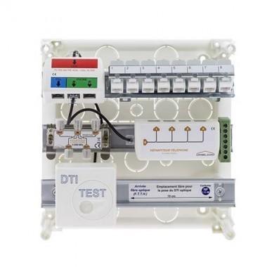 IKEPE Coffret de communication Grade 1 - 8RJ45 avec répartiteur téléphonique