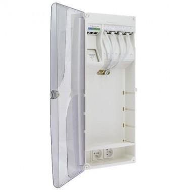 IKEPE Coffret de communication Grade 2TV - 8RJ45 avec DTIO et emplacement box