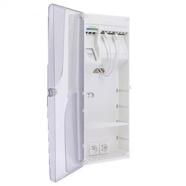 IKEPE Coffret de communication Grade 3TV - 8RJ45 avec DTIO et emplacement box