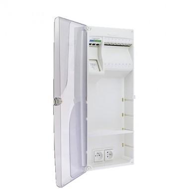IKEPE Coffret de communication Grade 1 - 8RJ45 avec emplacement box