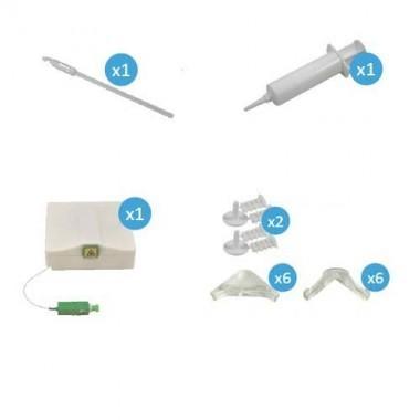 IKEPE Kit PT'Home DIY Rallonge fibre optique de 30m avec accessoires