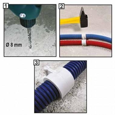 ING FIXATIONS Fix-ring Boite de 100 Fixation pour gaine ICTA D20