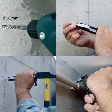 ING FIXATIONS Fix-ring+ fixations pour tubes et gaines Diamètre 16 - Boîte de 100
