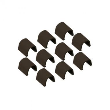 INOFIX Cablefix Accessoires droits 8 x 7 mm pour gaine adhésive - Marron