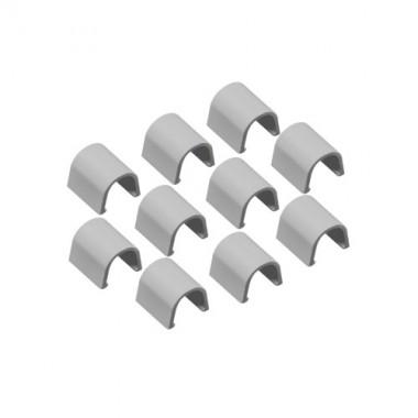 INOFIX Cablefix Accessoires droits 8 x 7 mm pour gaine adhésive - Gris métallisé