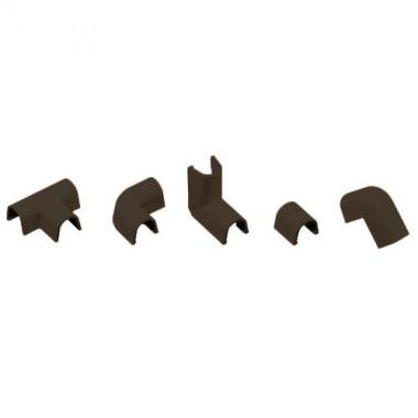 INOFIX Cablefix Accessoires assortis 10,5x10 mm pour gaine adhésive - Marron