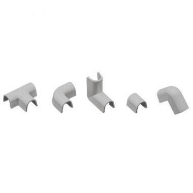 INOFIX Cablefix Accessoires assortis 10,5x10 mm pour gaine adhésive - Gris métallisé