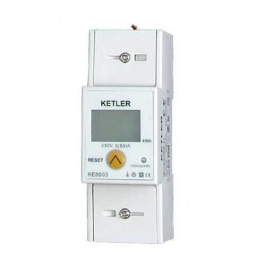 KETLER Compteur monophasé 80A à écran LCD